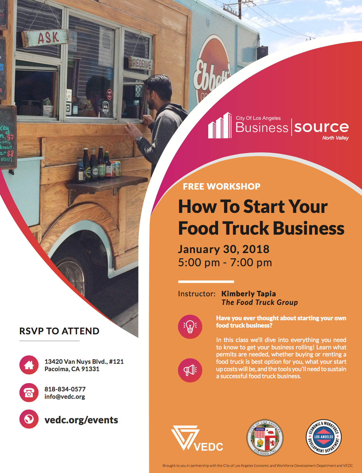 Jan 30 How To Start Your Food Truck Business Free Workshop The