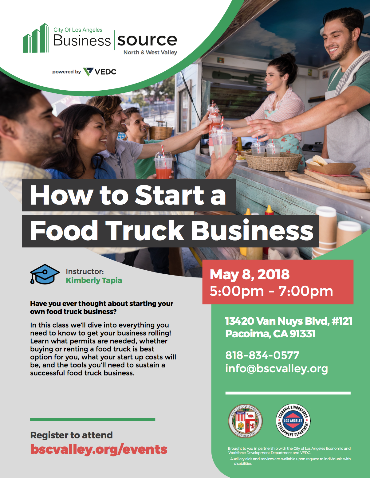 MAY 8, 2018 – How to Start Your Food Truck Business – FREE Workshop