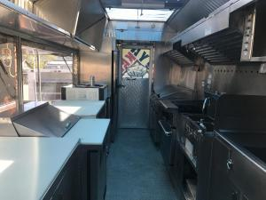 3 fryer truck - kitchen view 1