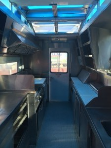 22ft Food Truck Truck Modern Layout & High Top  - inside 1